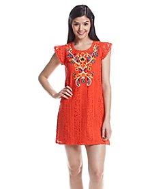 Eyeshadow Embroidered Dress