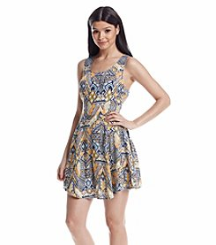 Be Bop Printed Skater Dress