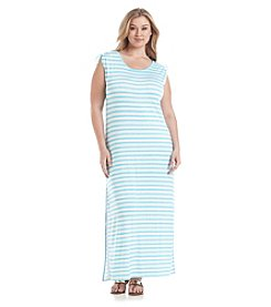 MICHAEL Michael Kors® Plus Size Pindo Striped Ruched Maxi Dress