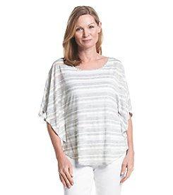 Ruby Rd.® Pretty Sporty Metallic Sheer Stripe Knit Top