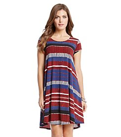 Karen Kane® Striped Trapeze Dress