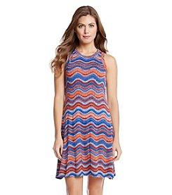 Karen Kane® Wavy Print Halter Dress