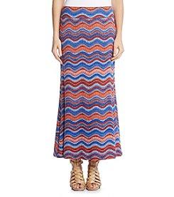 Karen Kane® Wave Print Maxi Skirt
