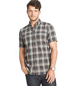 G.H. Bass & Co. Men's Short Sleeve Textured Button Down Shirt