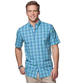 Chaps® Men's Big & Tall Short Sleeve Easy-Care Woven Button Down Shirt
