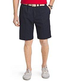 Izod® Men's Pleated Microfiber Shorts