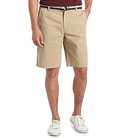 Izod® Men's Belted Washed Saltwater Chinos