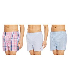 Polo Ralph Lauren® Men's 3-Pack Patterned Boxers