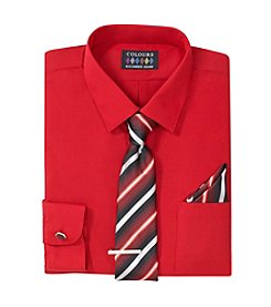 Alexander Julian® Men's 5-Piece Regular Fit Dress Shirt & Tie Set