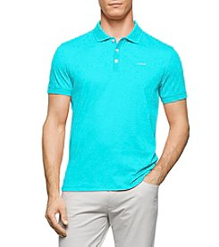 Calvin Klein Men's Jersey Interlock Short Sleeve Polo