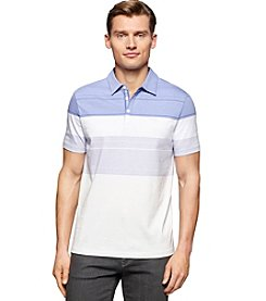 Calvin Klein Men's Liquid Cotton Engineered Stripe Short Sleeve Polo