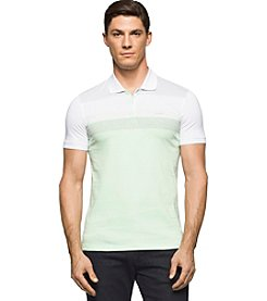 Calvin Klein Men's Engineered Stripe Short Sleeve Polo
