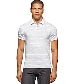 Calvin Klein Men's All Over Printed Short Sleeve Polo