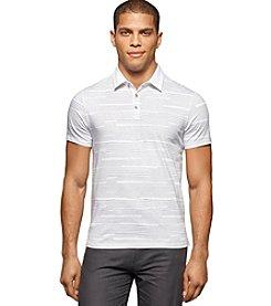 Calvin Klein Men's All Over Printed Short Sleeve Polo