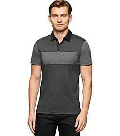 Calvin Klein Men's Stripe Blocked Short Sleeve Polo