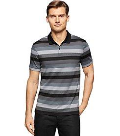 Calvin Klein Men's Roadmap Auto Stripe Short Sleeve Polo