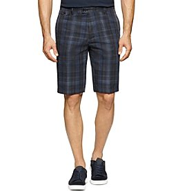 Calvin Klein Men's Multi-Dimension Plaid Slub Shorts