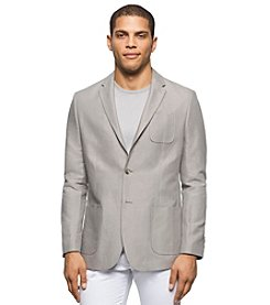 Calvin Klein Men's Denim Stripe Linen Sport Jacket
