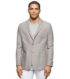 Calvin Klein Men's Denim Stripe Linen Sport Jacket