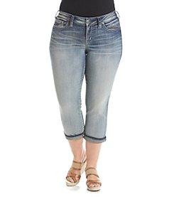 Silver Jeans Co. Plus Size Suki Mid Capri Crop Jeans