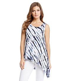 Karen Kane® Asymmetrical Tie Dye Top