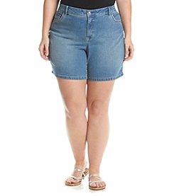 Gloria Vanderbilt® Plus Size Jacqueline Embellished Shorts
