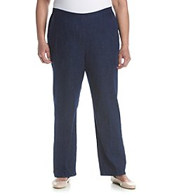 Alfred Dunner® Plus Size All Aboard Solid Pull On Pants