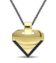 Versace 19.69 Abbigliamento Sportivo SRL Men's Black Sapphire Insignia Necklace