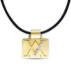 Versace 19.69 Abbigliamento Sportivo SRL Men's White Sapphire Necklace
