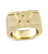 Versace 19.69 Abbigliamento Sportivo SRL Men's Ring in 18k Yellow Gold Plated Sterling Silver