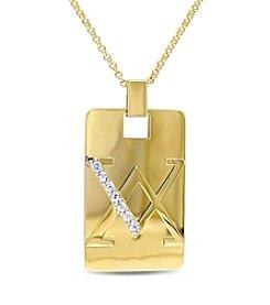 V1969 ITALIA Men's White Sapphire Necklace