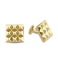 Versace 19.69 Abbigliamento Sportivo SRL Cufflinks in 18k Yellow Gold Plated Sterling Silver