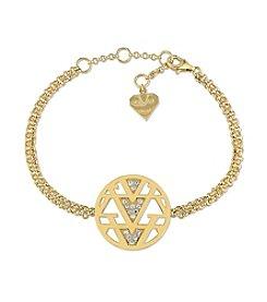V1969 ITALIA White Sapphire Openwork Drop Bracelet