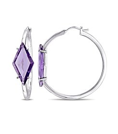 V1969 ITALIA Amethyst Prism Hoop Earrings
