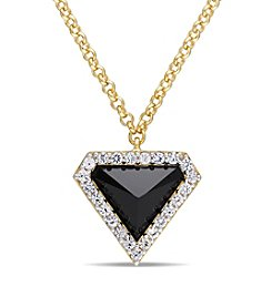 V1969 ITALIA Black Agate and White Sapphire Prism Necklace