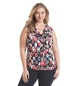 Kasper® Plus Size Draped Neck Top