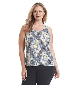 Relativity® Plus Size Printed Burnout Tank