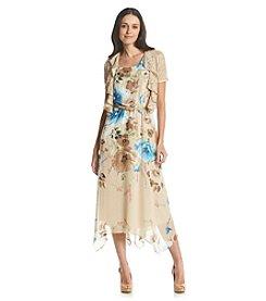 R&M Richards® Asymmetrical Bottom Hem Jacket Dress