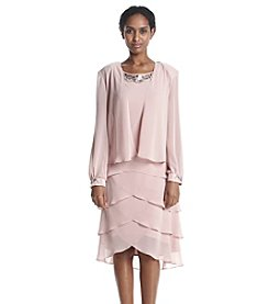 S.L. Fashions Tiered Jacket Dress