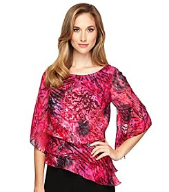 Alex Evenings® Printed Tiered Blouse