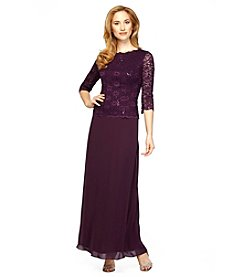 Alex Evenings® Lace Mock Gown