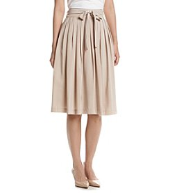 Calvin Klein Tie Waist Pleated Skirt