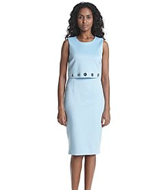 Calvin Klein Double Layered With Grommets Dress