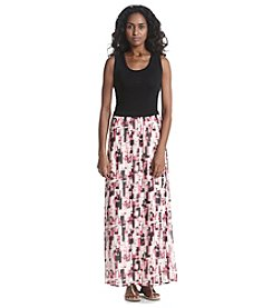 Calvin Klein Geometric Print Maxi Dress