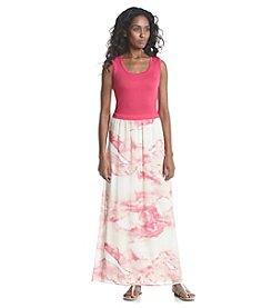 Calvin Klein Tie Dye Print Maxi Dress