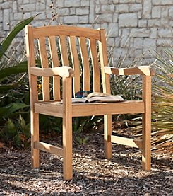 Southern Enterprise Eli Outdoor Teak Arm Chair
