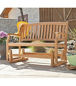 Southern Enterprise Eli Outdoor Teak Glider Bench