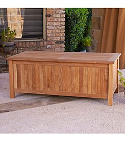 Southern Enterprise Jefferson Outdoor Teak Storage Box