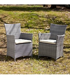 Southern Enterprise 2-pc. Set of Kimball Outdoor Easy Wicker Chairs