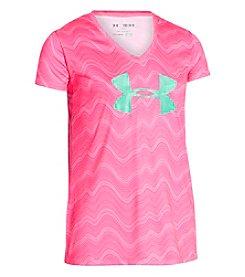 Under Armour® Girls' 7-16 Short Sleeve Novelty Logo Tee